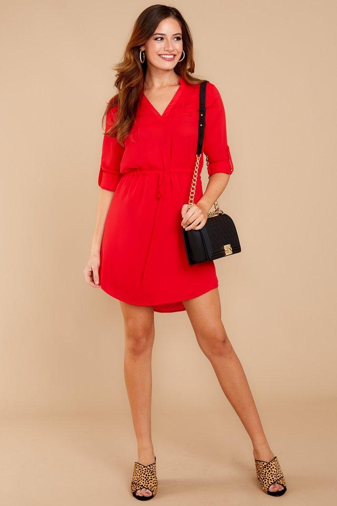Red Dress flirty red dress - statement red dress - red dress - $40 - red dress VYLDDKK