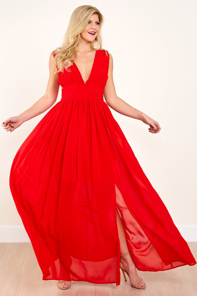 Red Dress sexy red dress - red maxi dress - dress - $56.00 - red dress boutique SFUSHOV