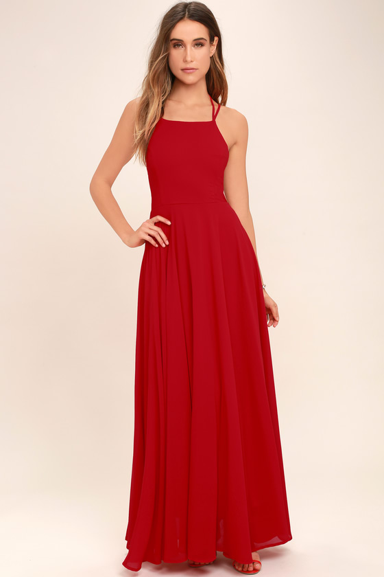 Red Dress strappy to be here red maxi dress YZPNOGR