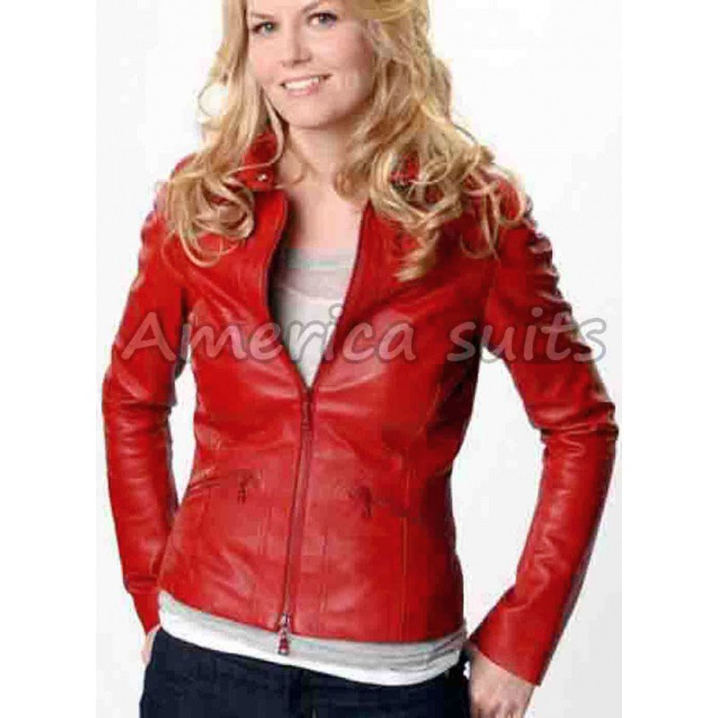 Red Leather Jacket emma swan red leather jacket for women LGSTEJY
