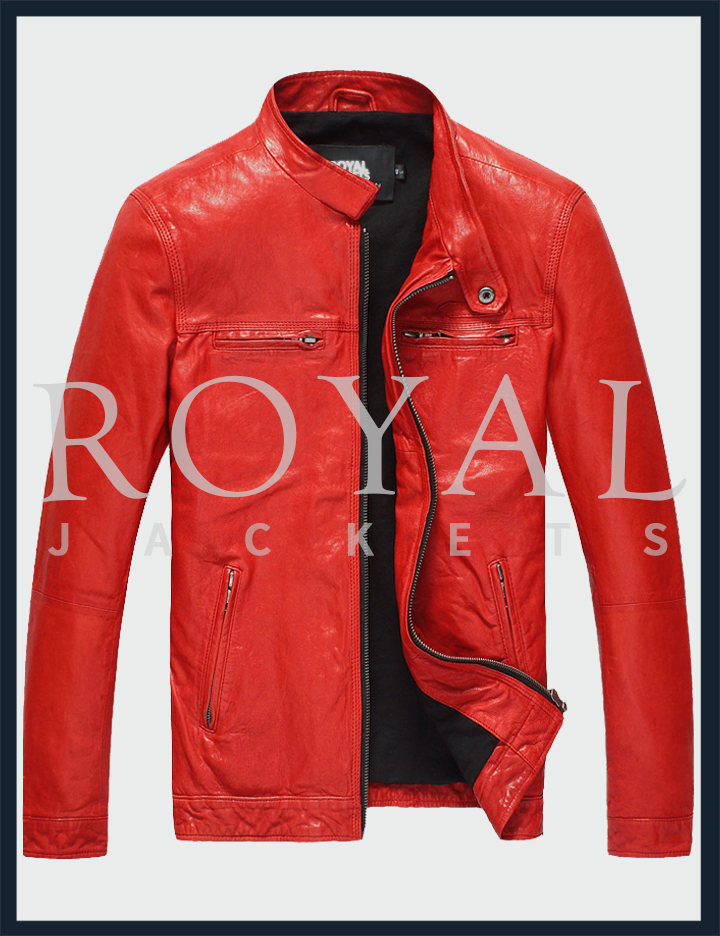Red Leather Jacket red leather jacket for men GFWTCWW