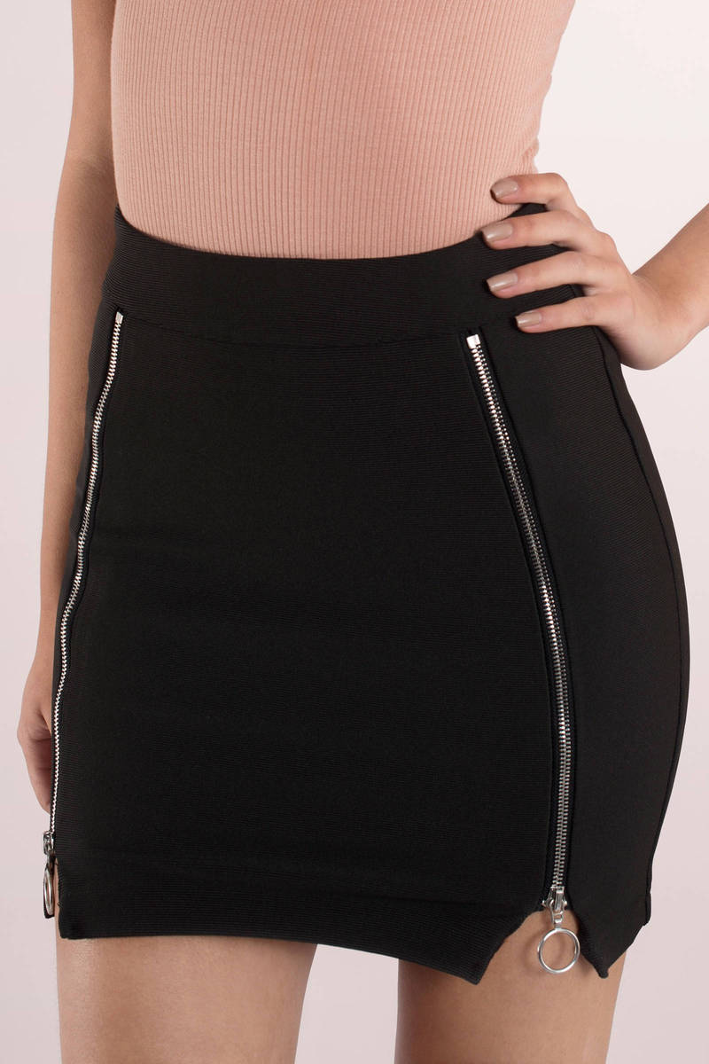 rehab clothing rehab clothing zip it black high waisted skirt BUVOIOP