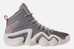 right view of womenu0027s adidas crazy 8 casual shoes in platinum metallic/off PTWYXMW