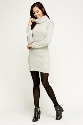 roll neck knitted jumper dress MYYMNVE