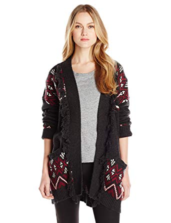 sanctuary clothing womenu0027s blanket cardigan sweater, charcoal/port, small  at amazon womenu0027s clothing store: FFSMGZR