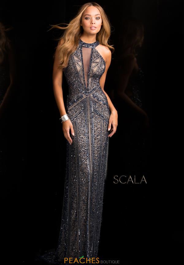scala dresses scala fitted long dress 48696 GQRSCGC