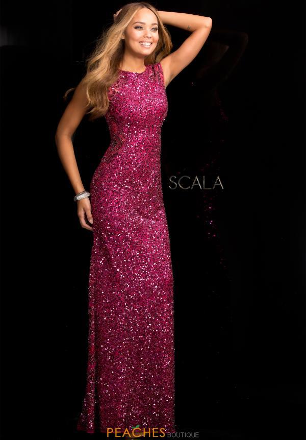 scala dresses scala long sequins dress 48467 AHQROTF