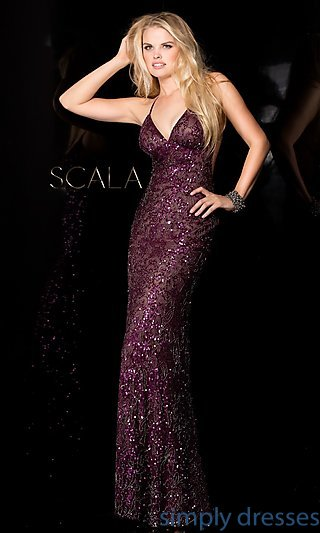 scala dresses sequin gown with open back, sexy sequin dresses - simply dresses . YUWSNZK