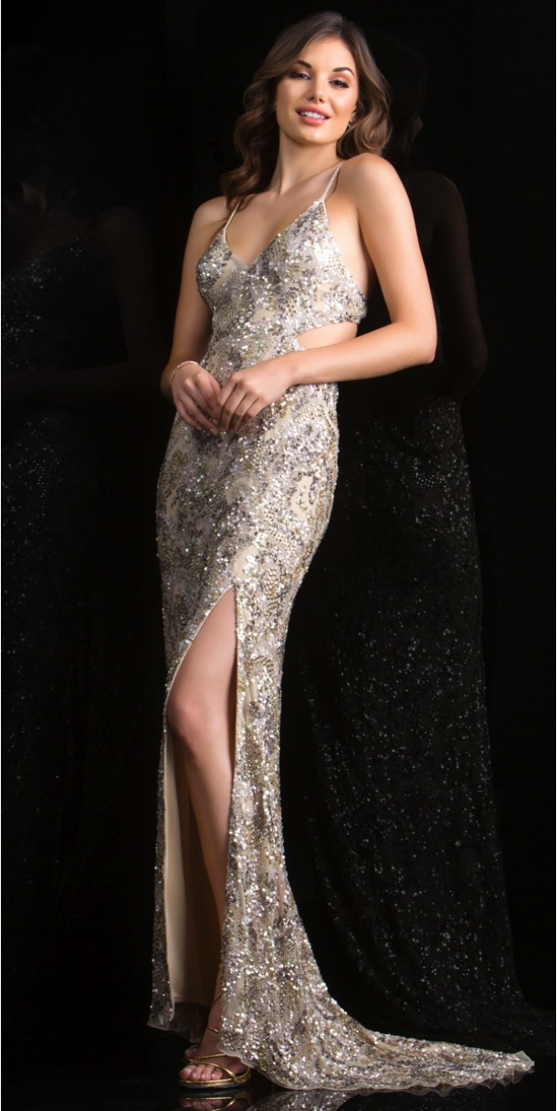 scala dresses sexy open back taupe dress 48679 - scala - 48679 YIJLVOO