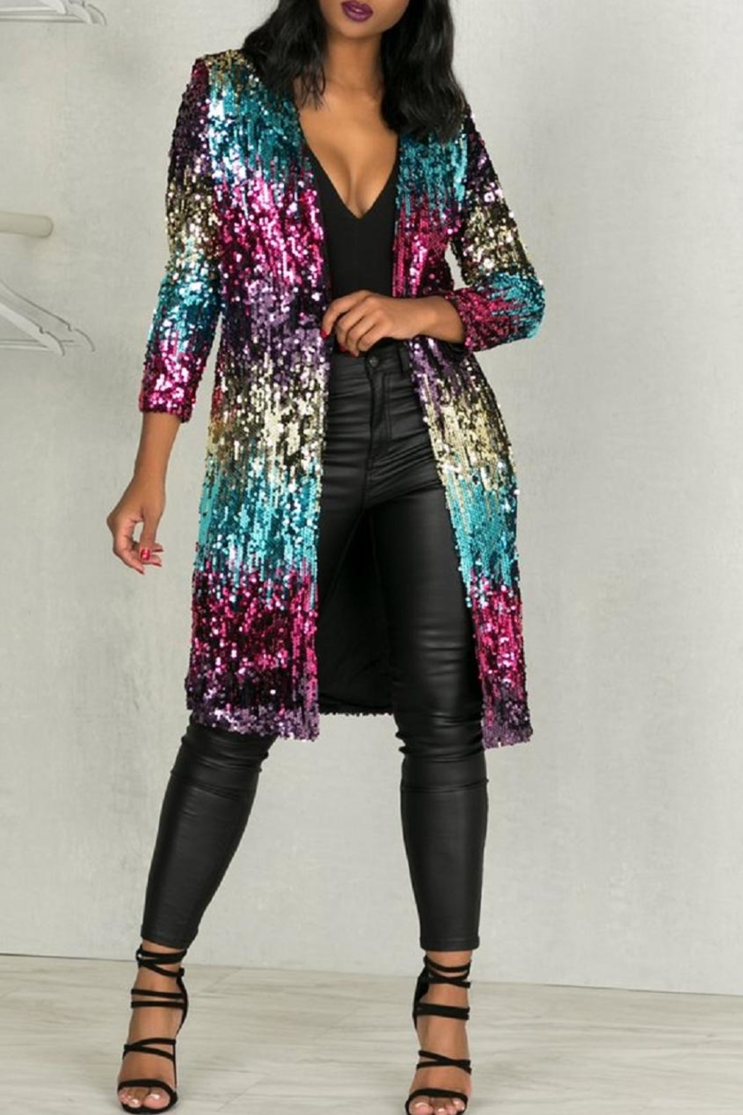 Making Sequin Cardigan Your Statement Piece