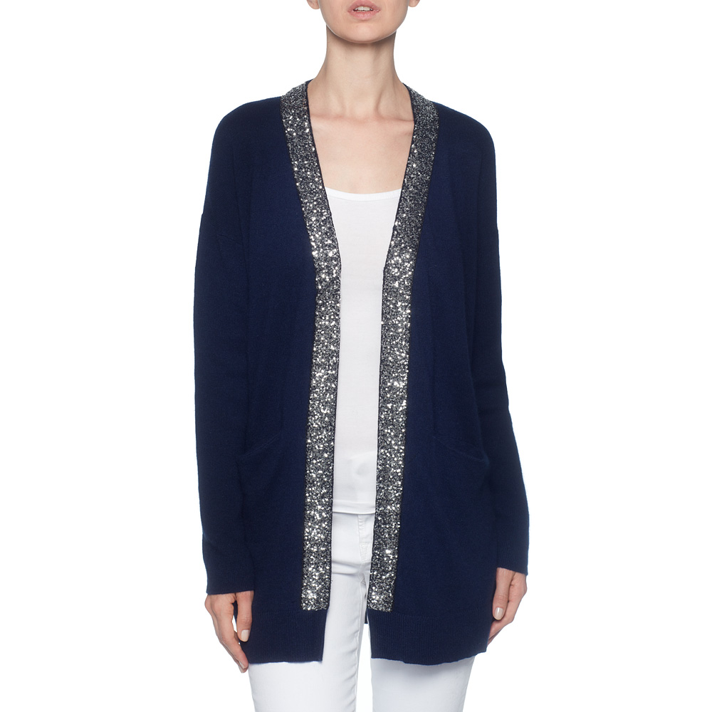 Sequin Cardigan open front sequin cardigan ZNHRAYH