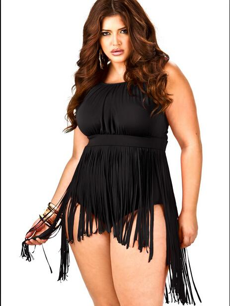 sexy plus size clothing 2018 hot sexy plus size fashion fringe dresses 2015 retro high waisted one  piece DUFXYUI