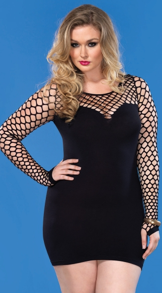 sexy plus size clothing plus size diamond net seamless mini dress, plus size clubwear dresses, sexy  plus size HSYTJPA