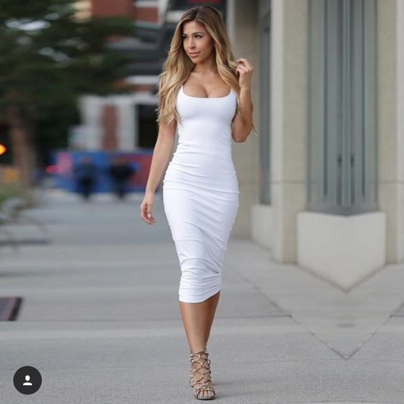 Sexy White Dresses sexy white midi dress NPAXXRC