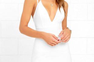 Sexy White Dresses top ranking white midi dress POARKXD