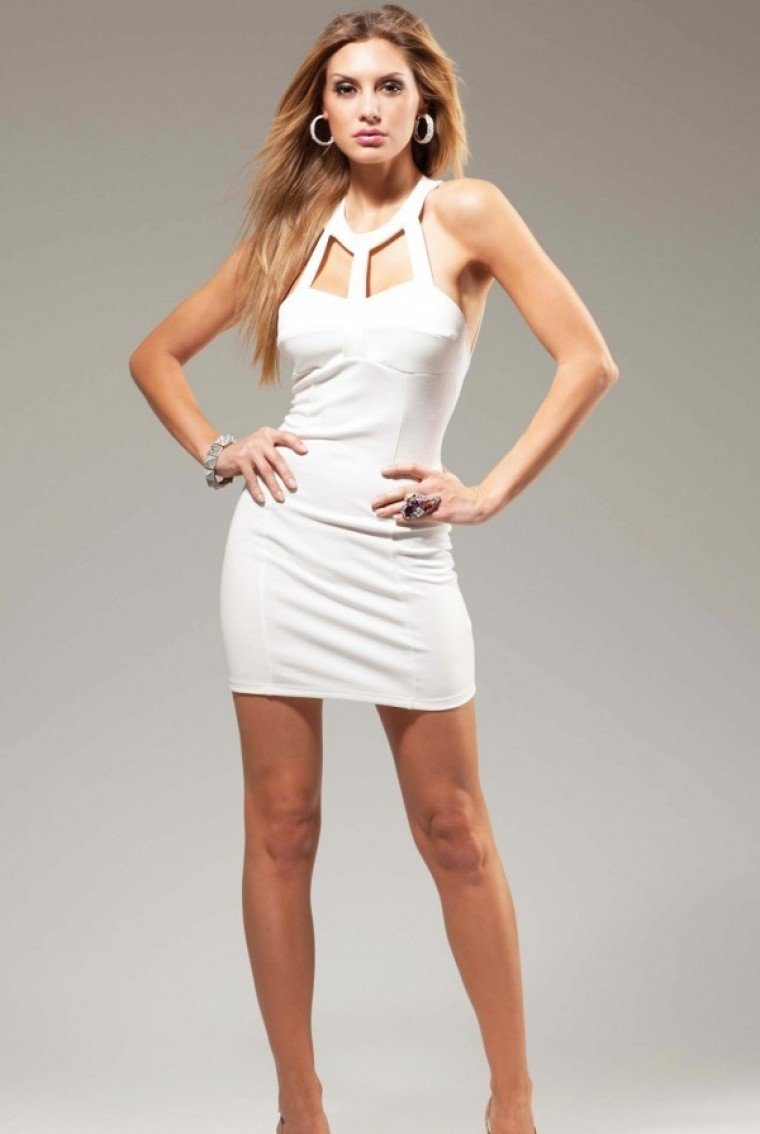 Sexy White Dresses white sexy cut out mini dress - diva hot couture FTJXMYV