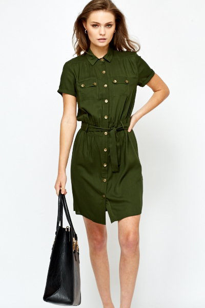 shirt dresses dark olive t-shirt dress SQCWAKR