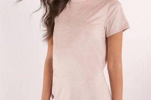 shirt dresses sahara blush faux suede shirt dress ... EGACXGN