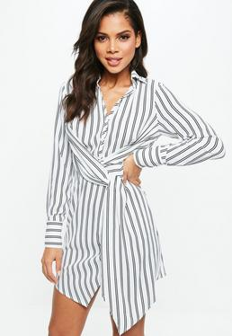 shirt dresses white asymmetric knot front shirt dress white asymmetric knot front shirt  dress AHGNVVP