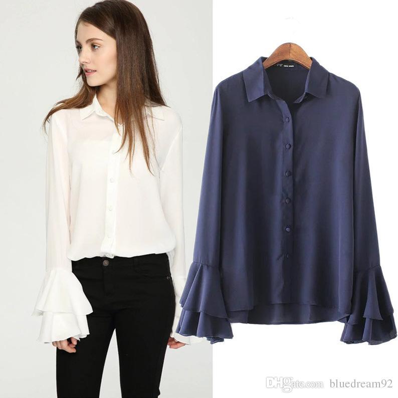 shirts for women 2018 new women shirts blouses was thin ladies clothing speaker long sleeve  designer lace VNZOAZK