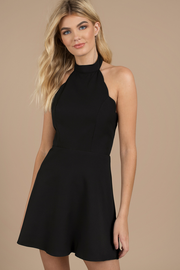 short black dresses little black dresses, black, gilda scallop skater dress, ... LVRAPZE