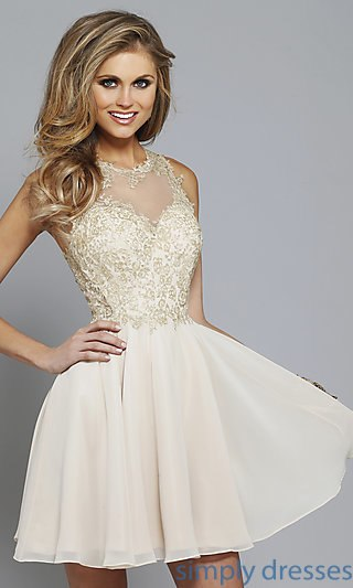 Short Prom Dress faviana short prom dress, party dress with lace . YIJXLLB