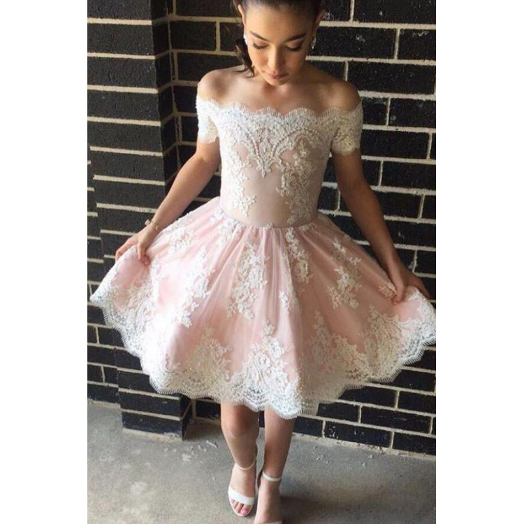 Short Prom Dress hot sale trendy short sleeve prom dresses, pink short sleeve homecoming  dresses, short prom GZJDZVL