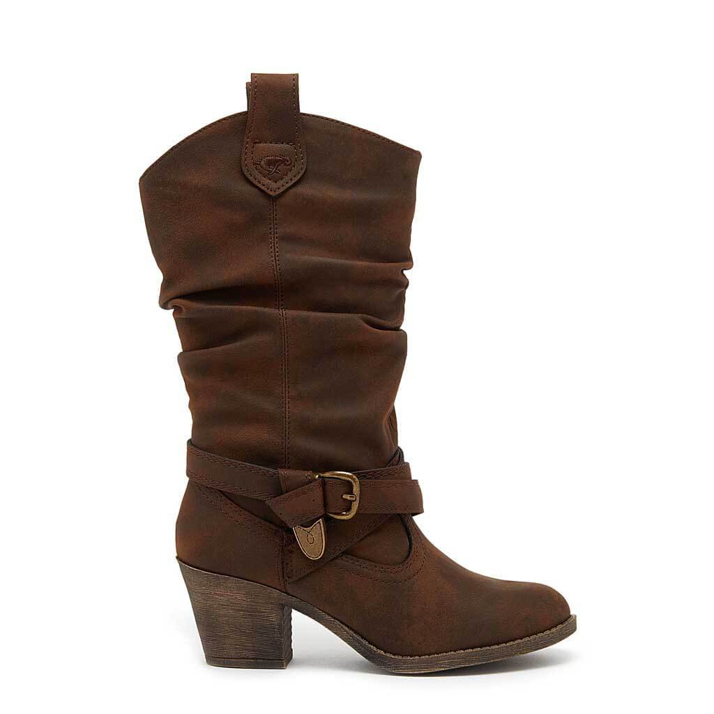 sidestep brown heeled boots - rocket dog uk LJRCOSH