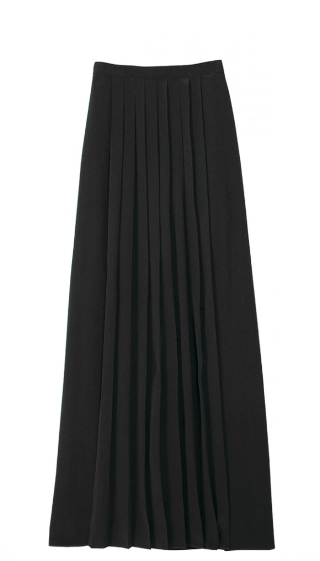 silk pleated maxi skirt KQBAGNU