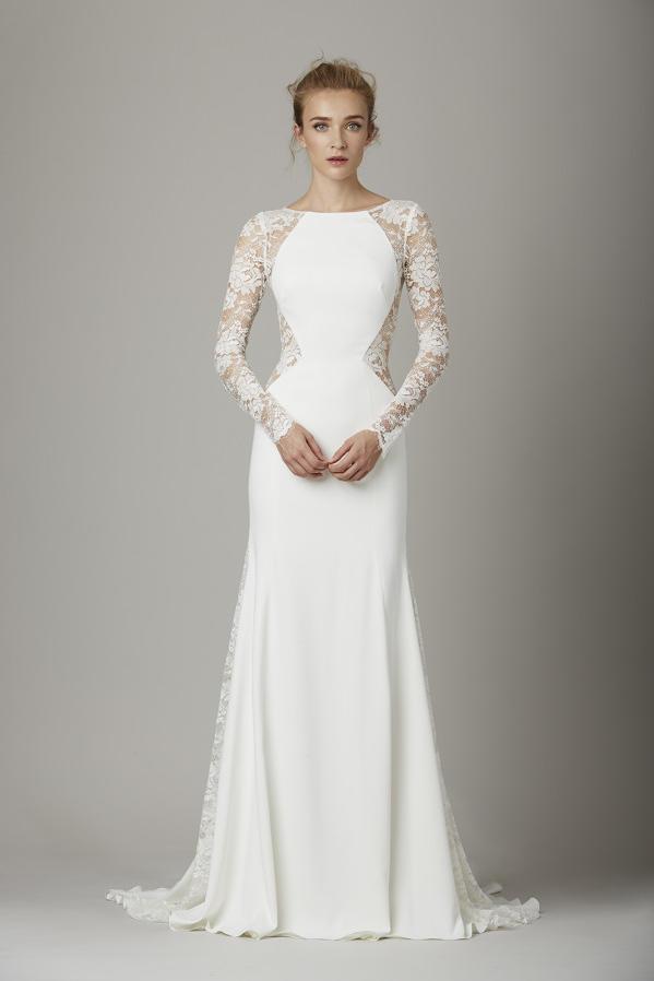 sleeved wedding dresses lela rose u0027the loungeu0027 gown FBDKTIS