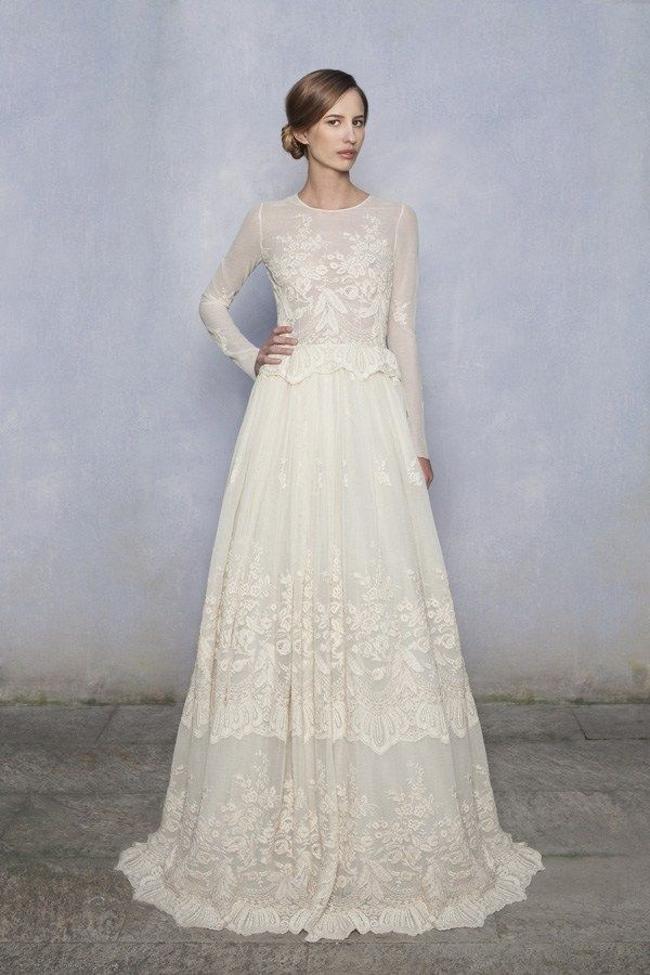 sleeved wedding dresses luisa beccaria long sleeve wedding dress NQVXZXE