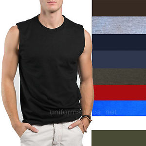 sleeveless shirts image is loading mens-t-shirt-tank-cotton-sleeveless-muscle-tee- SIESXIK