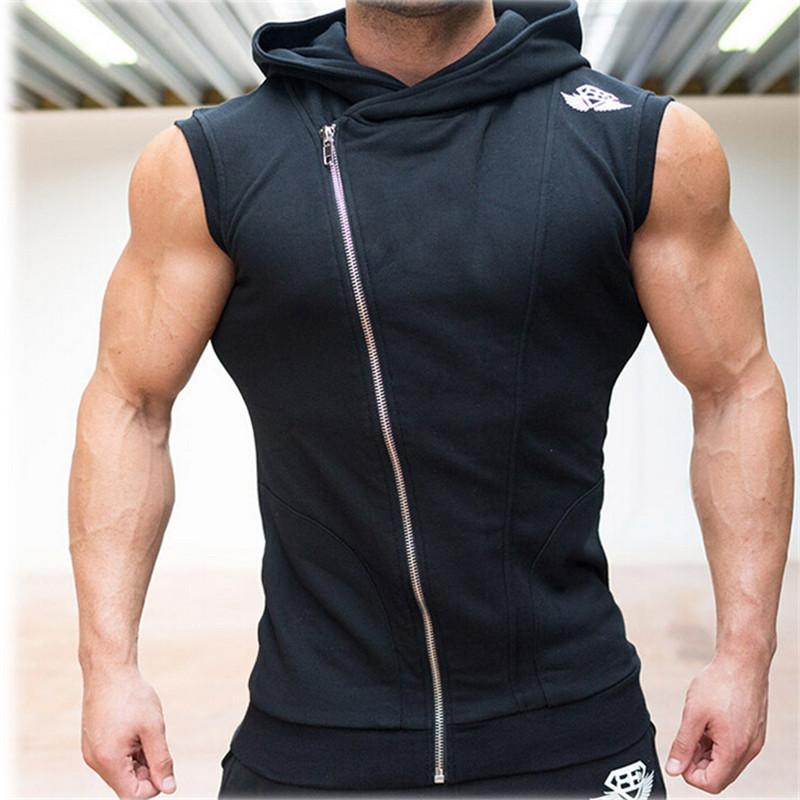 sleeveless shirts online cheap wholesale mens sleeveless sweatshirt hoodies top clothing t  shirt hooded tank top DZEYAMD