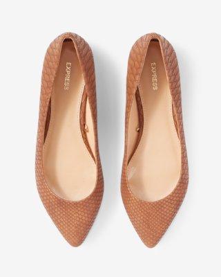 snakeskin pointed toe flats | express LTNZWJK