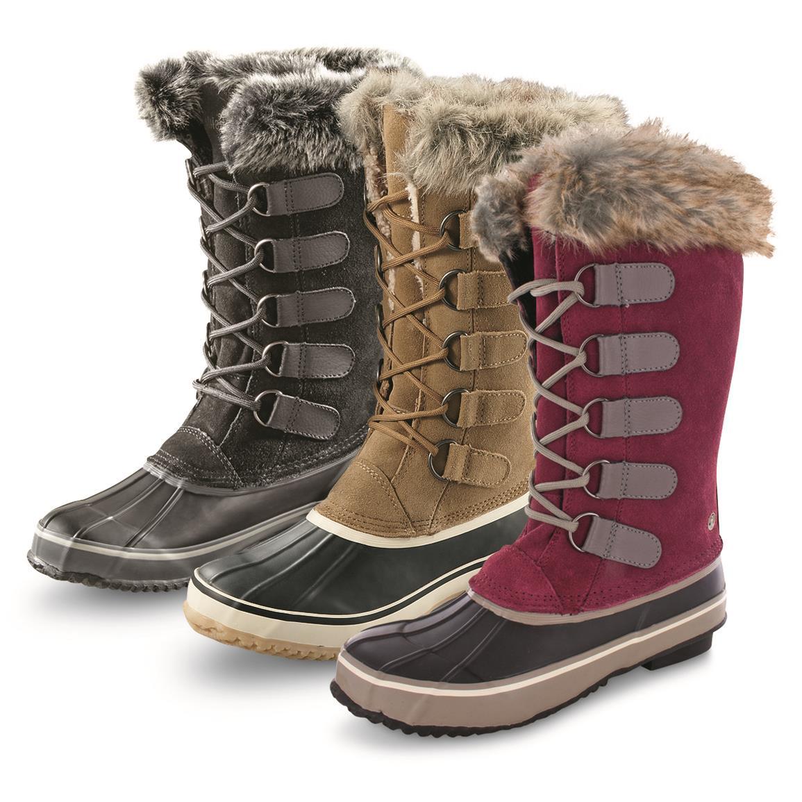 snow boots northside womenu0027s kathmandu insulated waterproof winter boots, 200 grams,  onyx (x49 ELAQETW