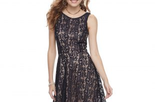 Speechless Dresses juniorsu0027 speechless lace skater dress AEXSWEX
