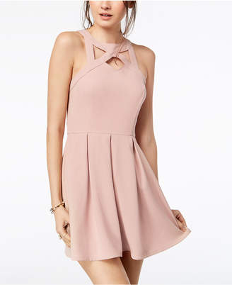 Speechless Dresses ... speechless juniorsu0027 cage-front fit u0026 flare dress QUBLLOG