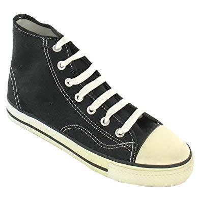 spot on mens canvas baseball boots (7 us) (black) SHXYTFR