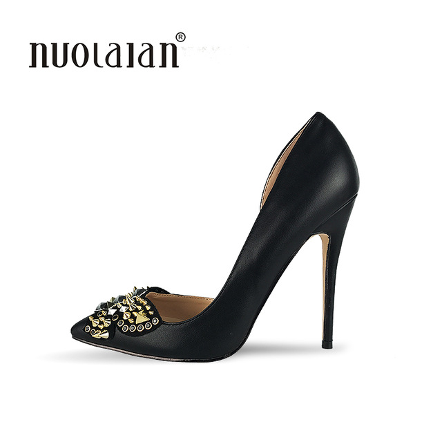 Stilettos shoes brand shoes woman high heels women shoes pumps stilettos shoes for women  black high WDNCYPP