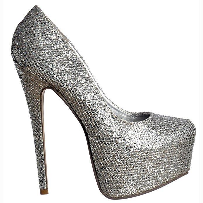 Stilettos shoes get quotations · onlineshoe womenu0027s ladies concealed platform high heel shoes  stilettos - nude EMOPZKC