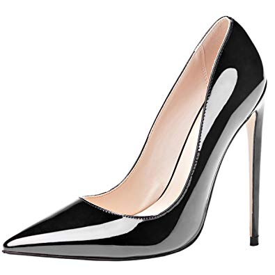 Stilettos shoes mavirs high heels, women pumps pointed toe pumps high heel stilettos  slip-on dress UVOGHMD
