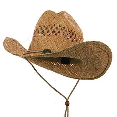 straw cowboy hats raffia straw cowboy hat-natural at amazon menu0027s clothing store: NEPWJBC