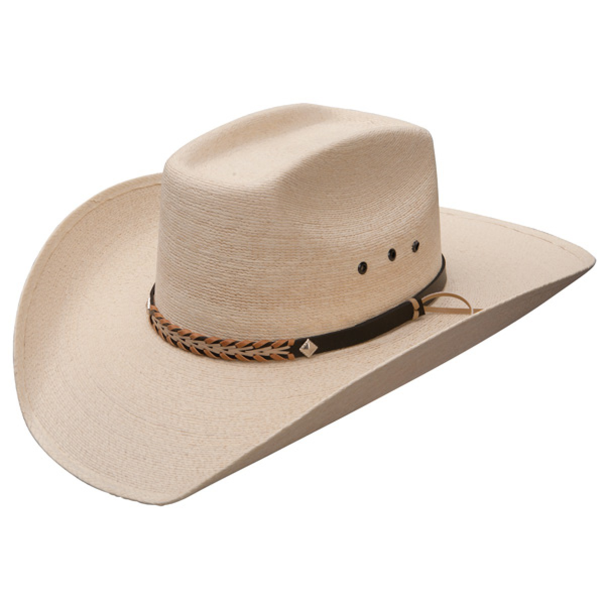 Get that funky look with straw cowboy hats
