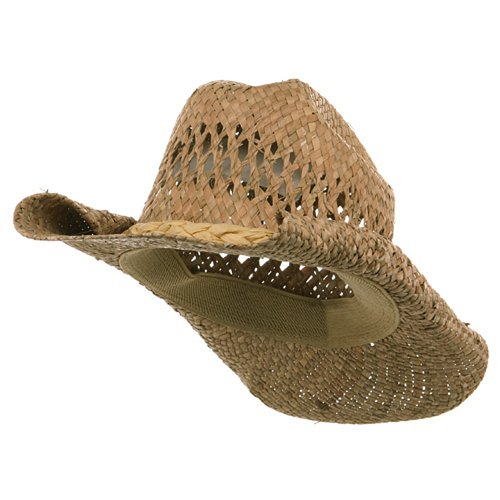 straw cowboy hats straw cowboy hat-natural roll w35s16a, natural, one size fits most at  amazon menu0027s clothing RDLKSFG