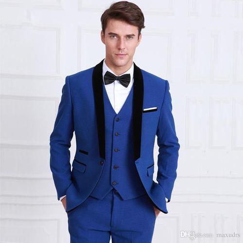 Suits for men 3 piece suit for men blue HBBDADU
