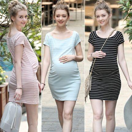 summer maternity clothes rm striped maternity clothes summer pregnant women nursing pregnancy dress  maternity dresses BAQVDSZ
