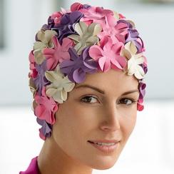 Swimming hats petal swim cap XRZSOJO