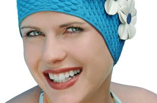 Swimming hats triple flower swim cap SHQXVRN