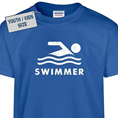 swims shirts s - youth swimmer t shirt swimming kids t shirt swim team olympic cool WQGNZHG
