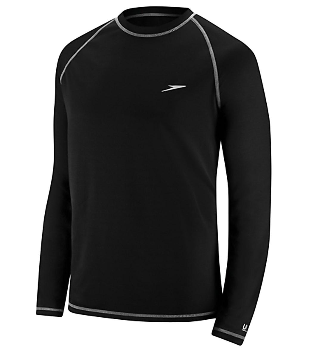 swims shirts speedo menu0027s easy long sleeve swim shirt FECBIJB
